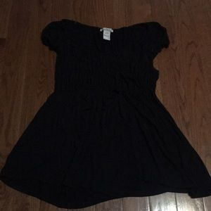 Short sleeve babydoll top